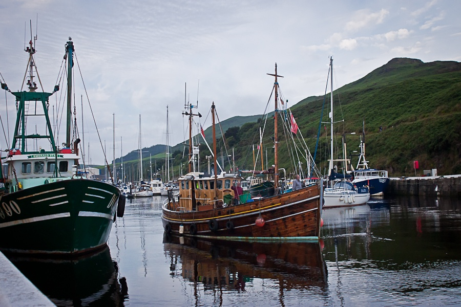 Boat in Peel Marina