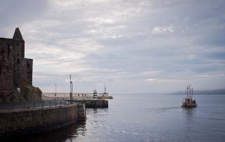 Boat entering Peel Harbour
